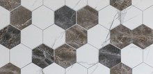 Ceramic Tile With Abstract Geometric Mosaic Pattern For The Kitchen