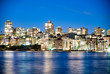 Kirribilli night skyline in Sydney, Australia