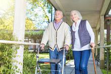 Senior Retired Couple In The G...