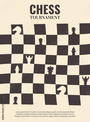 Vector illustration about chess tournament, match, game Wallpaper Mural