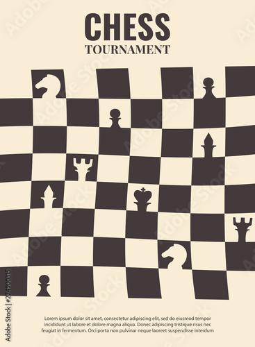 Vector illustration about chess tournament, match, game Fototapeta