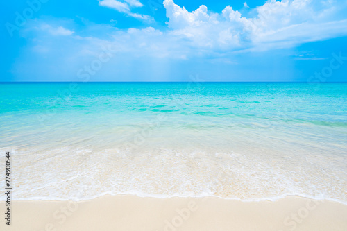 Obraz The clean and beautiful white beach of southern Thailand - fototapety do salonu