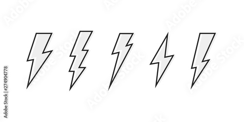Carta da parati  Set Lightning bolt