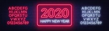 Neon Sign Happy New Year 2020 ...