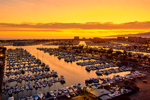 Aerial View Of The Marina Del ...