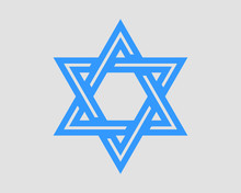 Jewish Star Of David Icon. Vec...