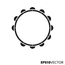 Tambourine Vector Glyph Icon