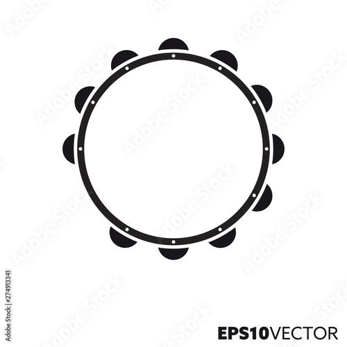 Fotografia Tambourine vector glyph icon
