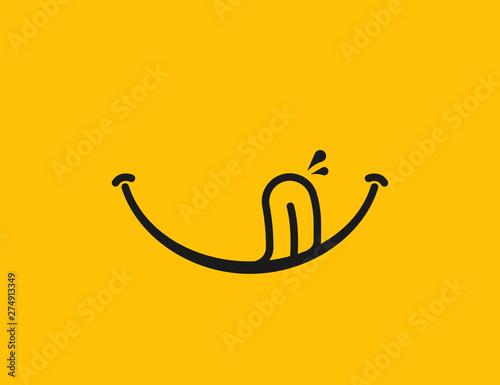 Obraz na płótnie Yummy smile