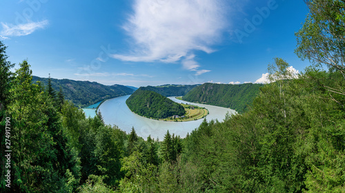 Valokuva  Panorama der Schlögener Schlinge
