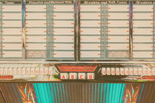 Old Jukebox With Empty Music L...