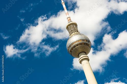 Berlin - Fernsehturm Canvas Print