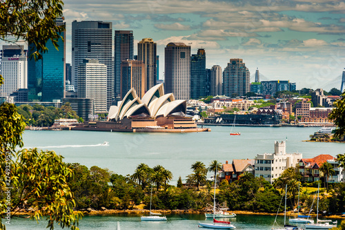 Canvas Print Sydney Skyline taken from Taronga Zoo