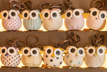 Colorful Cute Owl Key Chain To...