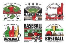 Baseball Balls, Sport Game Bats, Trophy, Players