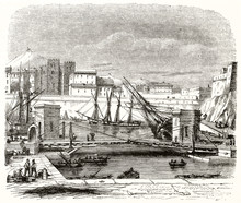 Ancient View Of The Port Of Ma...
