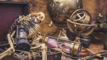 Dried Skeleton With Pirate Wealth
