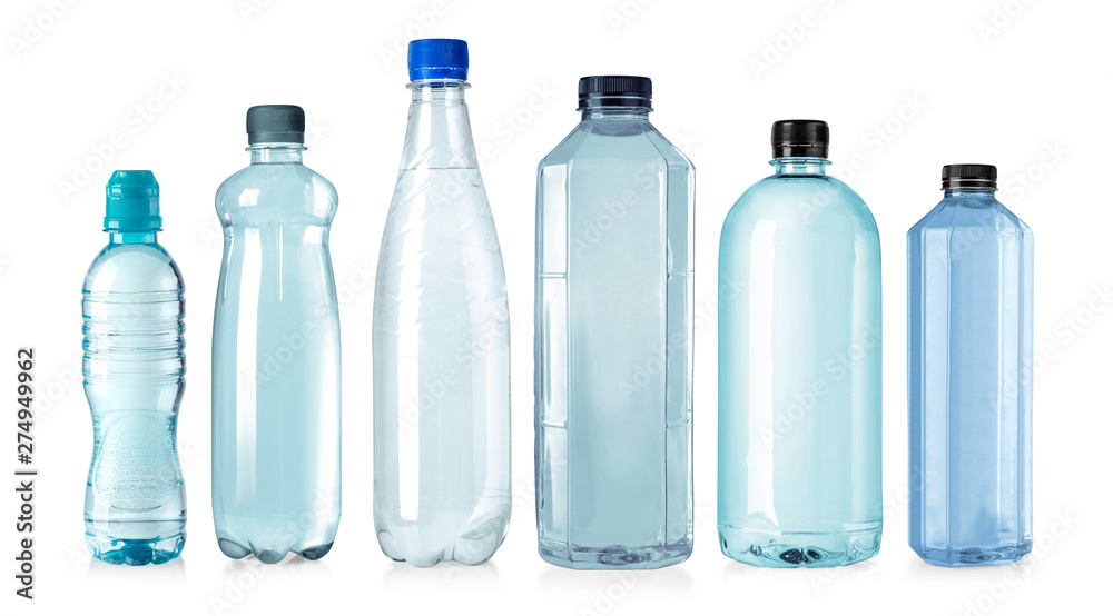 Fototapety, obrazy: plastic water bottles isolated
