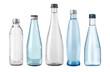 Leinwandbild Motiv water glass bottle isolated