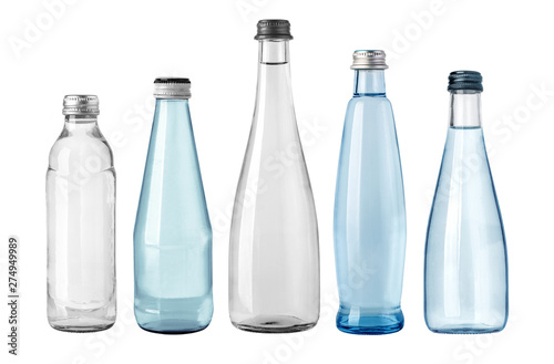 Tela water glass bottle isolated