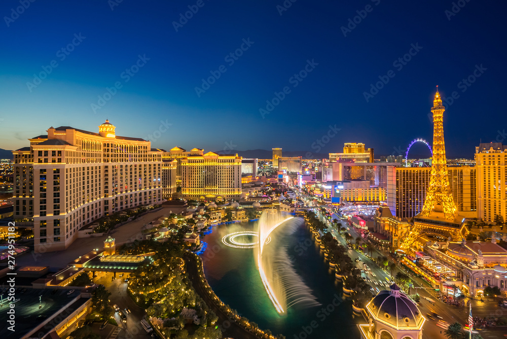 Fototapety, obrazy: aerial Las Vegas at night