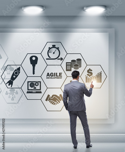 Fotografia Businessman in agile software development concept