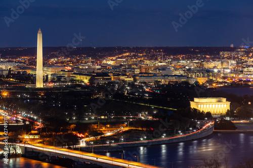 Poster Lieux connus d Amérique Washington DC Aerial