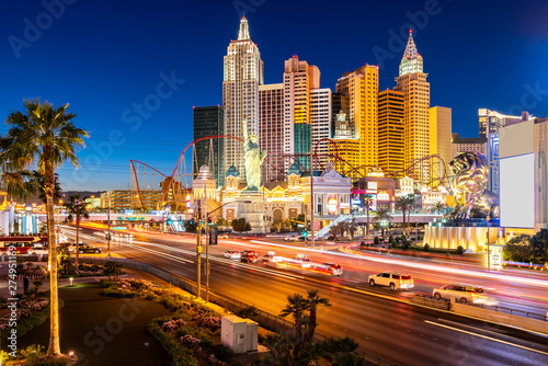 Photo sur Aluminium Las Vegas Las Vegas strip sunset