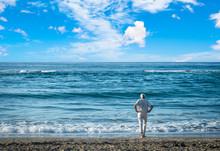 Old Man Staring At The Sea