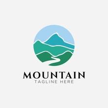 Mountain With River Logo Design