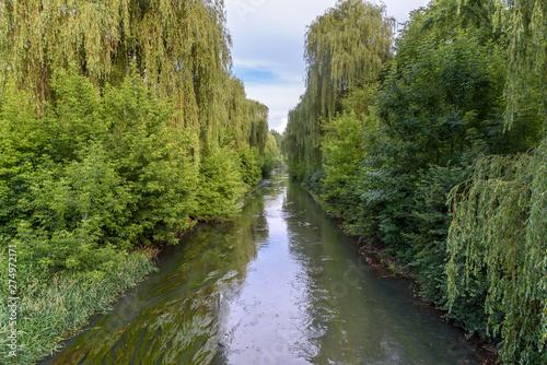 Fototapeta View of Brynica river in southern Poland obraz