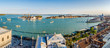 Venedig Panorama Markusplatz und Canal Grande