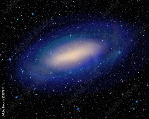 galassia e cielo stellato Canvas Print