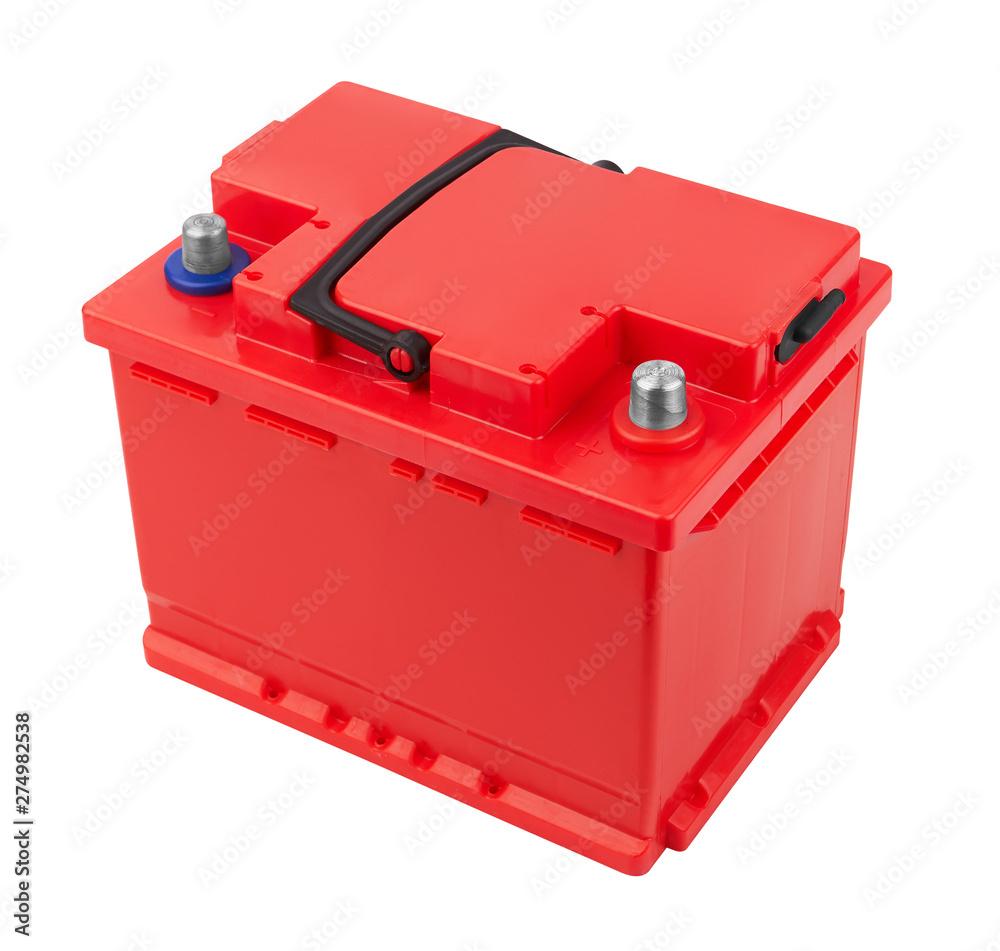 Fototapety, obrazy: Car battery isolated on white