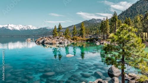 Poster Bergen Lake Tahoe Cove Aqua Blue