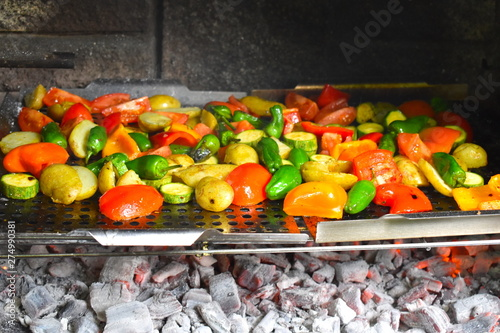 Fotografie, Obraz  Grilled mixed vegetables are the perfect side to any main course