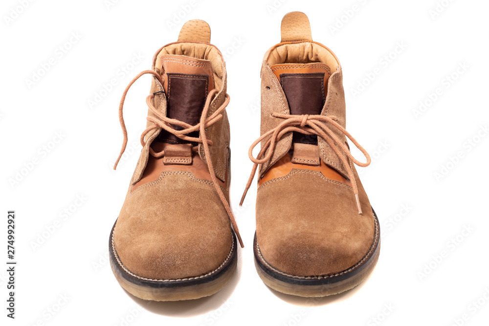Fototapety, obrazy: Pair of brown boots