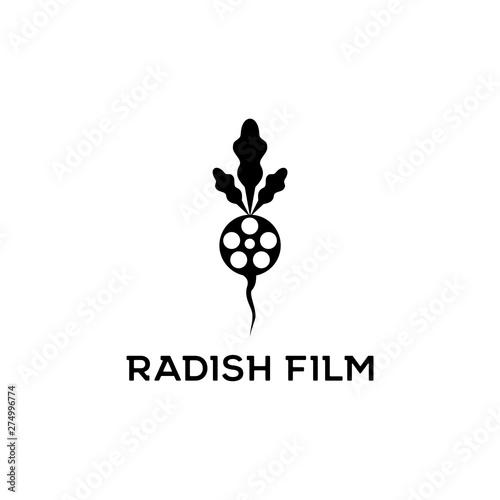 Printed kitchen splashbacks radish film logo design