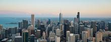 Chicago Skyline. An Overhead V...