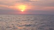 Sunset view from the yacht in the Black Sea
