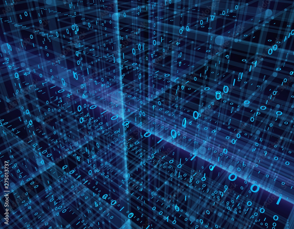 Fototapety, obrazy: Future network technology, information technology network communication, big data