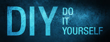 DIY Do It Yourself Special Blue Banner Background