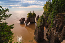 Hopewell Rocks In New Brunswick During Low Tide