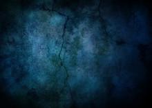背景素材、グランジ、ダーク、クラック,青