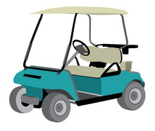 Golf Cart Isolated