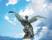 Bronze Statue Of A Winged Vict...