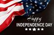 Happy Fourth of July USA Flag - Image .