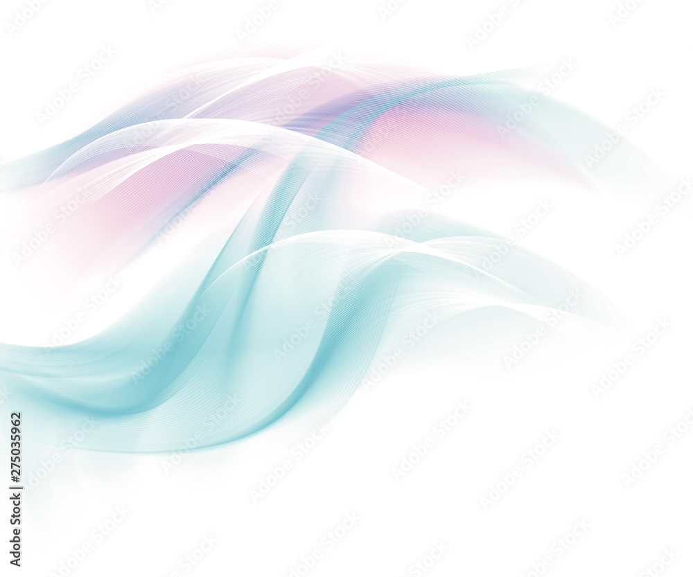 Abstract colored background, abstract lines twisting into beautiful bends