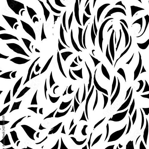 Fototapety, obrazy: Brush grunge pattern. White and black vector.