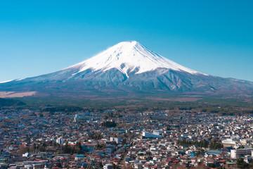 View of Fuji mountain from Chureito pagoda area
